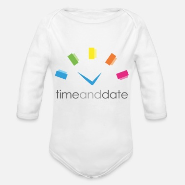 Date Of Birth Time and Date - Organic Long Sleeve Baby Bodysuit