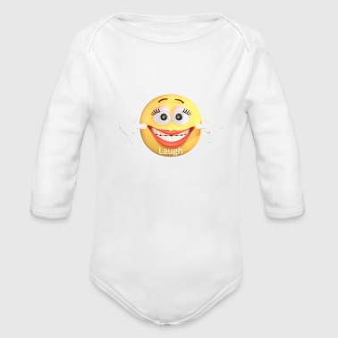 Laugh - Organic Long Sleeve Baby Bodysuit