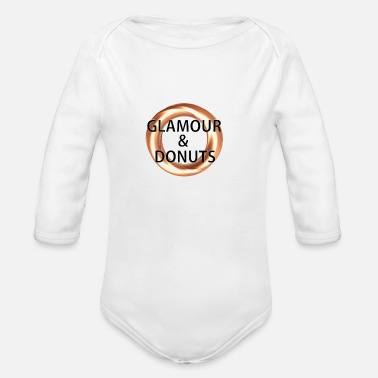 Glamour Glamour and Donuts - Organic Long Sleeve Baby Bodysuit