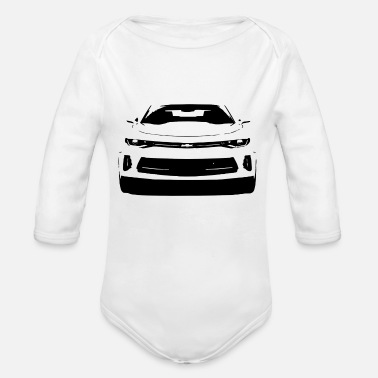 Camaro CAMARO ART - Organic Long-Sleeved Baby Bodysuit