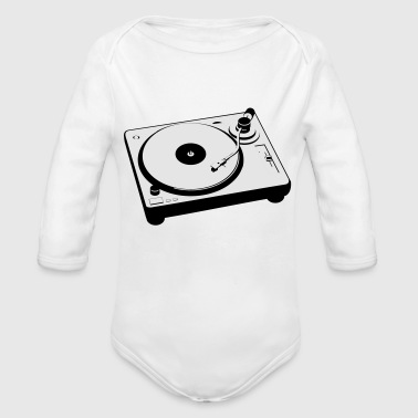 Dj turntable - Organic Long Sleeve Baby Bodysuit