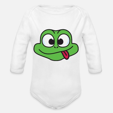 Toad Frog Toad - Organic Long Sleeve Baby Bodysuit