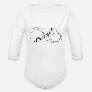 Blood Cancer Strength Is In My Blood Cancer Quote - Organic Long-Sleeved Baby Bodysuit