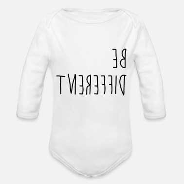 Different Be different - difference - Organic Long-Sleeved Baby Bodysuit