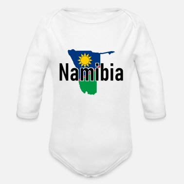 National Colours Namibia - Africa - Windhuk - National Colours - Organic Long-Sleeved Baby Bodysuit