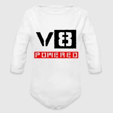 V8 V8 powered red - Organic Long Sleeve Baby Bodysuit
