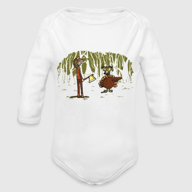 Over there - Organic Long Sleeve Baby Bodysuit
