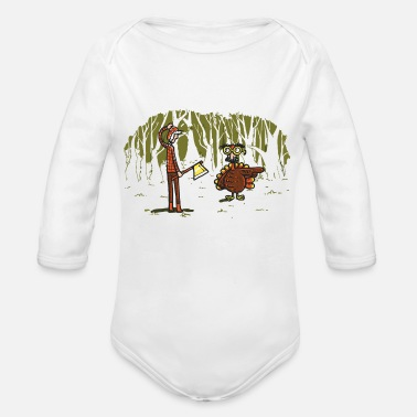 Over Over there - Organic Long Sleeve Baby Bodysuit