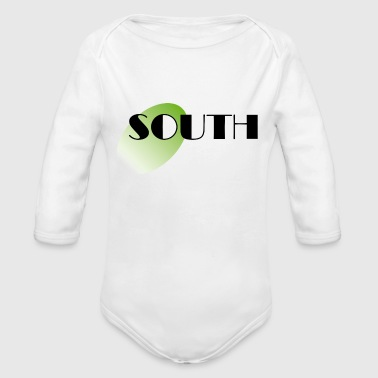 South - Organic Long Sleeve Baby Bodysuit