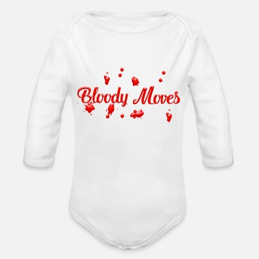 Bloody Bloody moves - Organic Long-Sleeved Baby Bodysuit