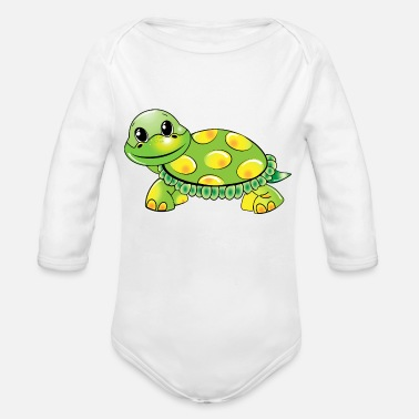 Save Turtle - Organic Long-Sleeved Baby Bodysuit