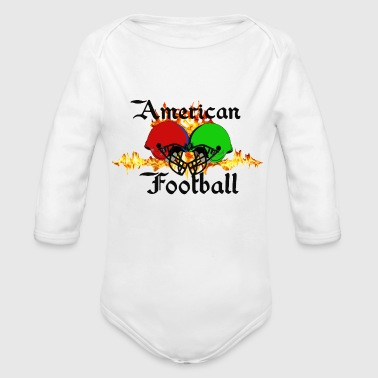 Funny Football Sayings Funny sayings,Fun sayings, cool sayings,Football, - Organic Long Sleeve Baby Bodysuit