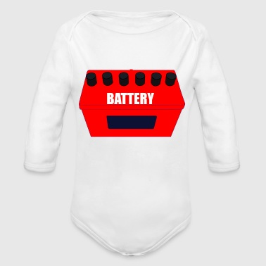 Batteries BATTERY - Organic Long Sleeve Baby Bodysuit
