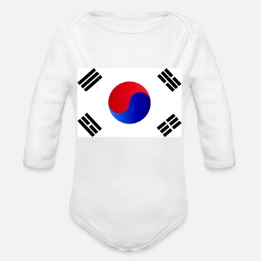 Foodball republic of korea - Organic Long-Sleeved Baby Bodysuit