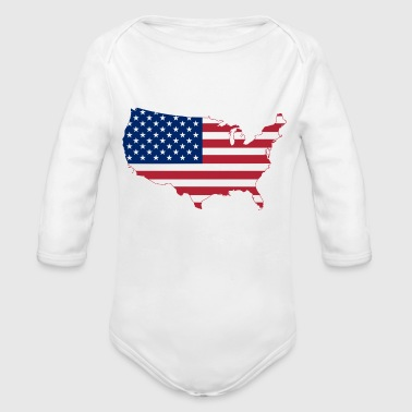 United States - Organic Long Sleeve Baby Bodysuit