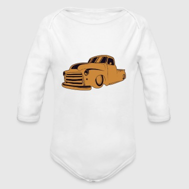 Vintage Cars Rat Rod - Organic Long Sleeve Baby Bodysuit