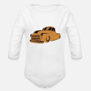 Burnout Vintage Cars Rat Rod - Organic Long Sleeve Baby Bodysuit