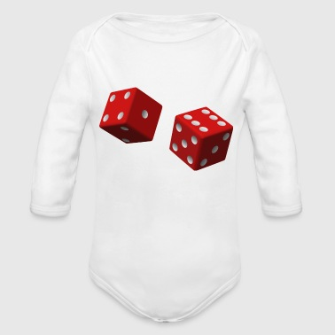 Dice - Organic Long Sleeve Baby Bodysuit