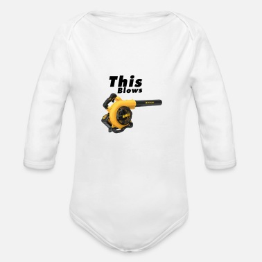Leaf This Blows - Organic Long-Sleeved Baby Bodysuit