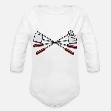 Grill Utensils grill-308876_1280 - Organic Long-Sleeved Baby Bodysuit