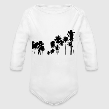 Palm trees - Organic Long Sleeve Baby Bodysuit
