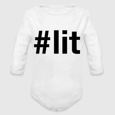 #lit - Organic Long Sleeve Baby Bodysuit