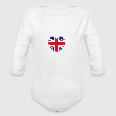 Her Majesty The Queen Great Britain - Organic Long Sleeve Baby Bodysuit