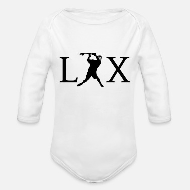 Lax LAX Lacrosse - Organic Long-Sleeved Baby Bodysuit