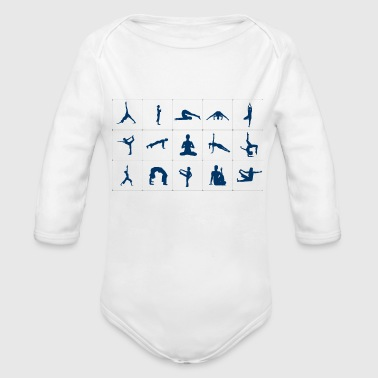 Pose Yoga poses - Organic Long Sleeve Baby Bodysuit