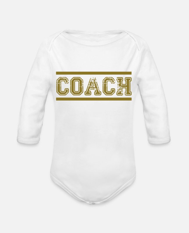 Ball Baby One Pieces - Trainer - Organic Long-Sleeved Baby Bodysuit white