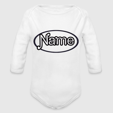 NAME - Organic Long Sleeve Baby Bodysuit