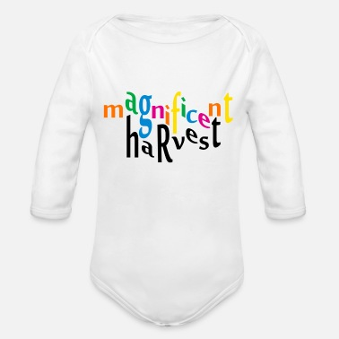 Harvest magnificent harvest - Organic Long Sleeve Baby Bodysuit