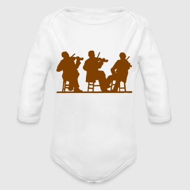 music concert - Organic Long Sleeve Baby Bodysuit