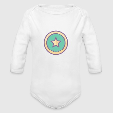 superstar - Organic Long Sleeve Baby Bodysuit