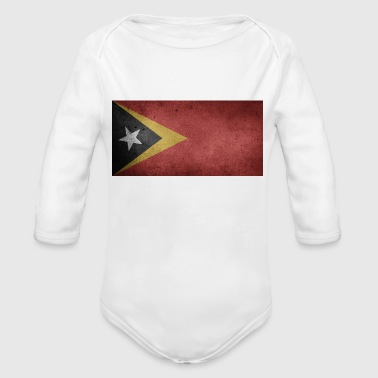 east timor - Organic Long Sleeve Baby Bodysuit