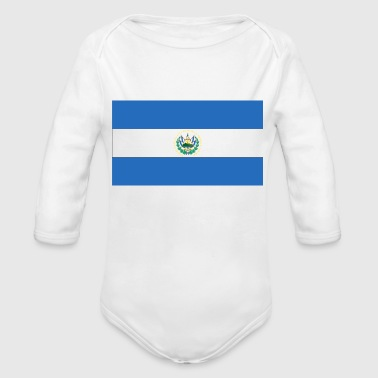 el salvador - Organic Long Sleeve Baby Bodysuit