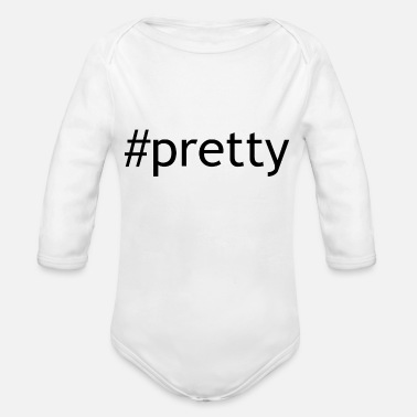 Pretty pretty - Organic Long Sleeve Baby Bodysuit