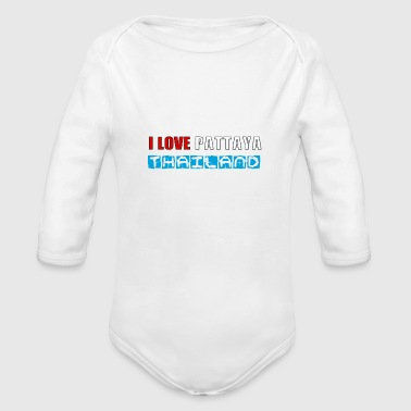 i love pattaya - Organic Long Sleeve Baby Bodysuit
