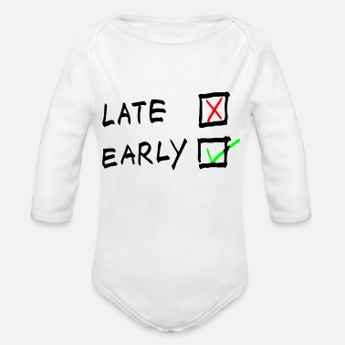Stage Early Stage - Organic Long-Sleeved Baby Bodysuit