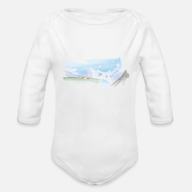 Pastel Pastel Dream - Organic Long-Sleeved Baby Bodysuit