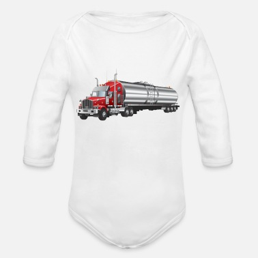 Transport transport truck wagon transportation cars 04 - Organic Long-Sleeved Baby Bodysuit