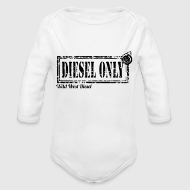 diesel only - Organic Long Sleeve Baby Bodysuit