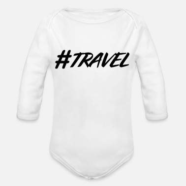 Story hashtag, hash, for story, stories, story - Organic Long Sleeve Baby Bodysuit