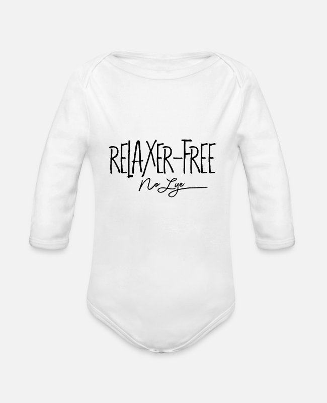 Natural Hair Baby One Pieces - Relaxer Free No Lye - Organic Long-Sleeved Baby Bodysuit white