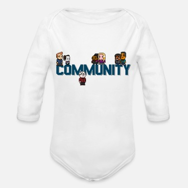Community community - Organic Long-Sleeved Baby Bodysuit