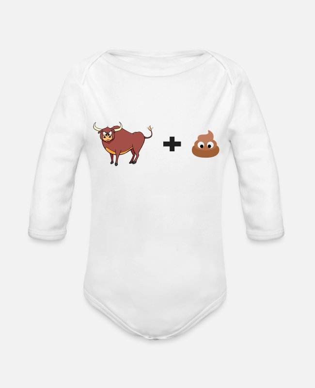 Christmas Baby One Pieces - bullshit! Funny present idea for kids and adults - Organic Long-Sleeved Baby Bodysuit white