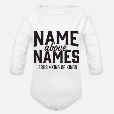 Names name above names - Organic Long-Sleeved Baby Bodysuit