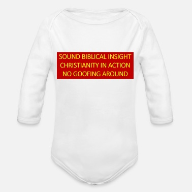 Insight Sound Biblical Insight - Organic Long-Sleeved Baby Bodysuit