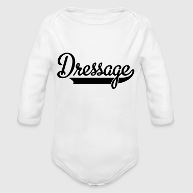 2541614 15546339 dressage - Organic Long Sleeve Baby Bodysuit