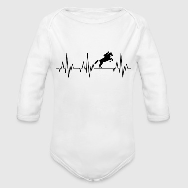Heartbeat Horses Riding Harness Racing Equitation - Organic Long Sleeve Baby Bodysuit